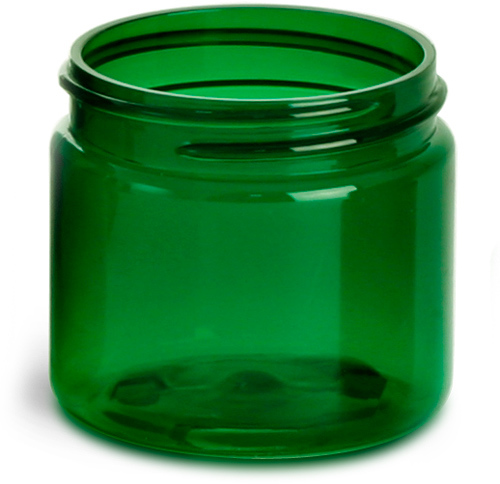 Green PET Straight Sided Jars  (Bulk), Caps Not Included