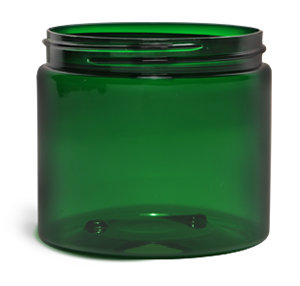 Original Green PET Straight Sided Jars