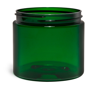 New Green PET Straight Sided Jars
