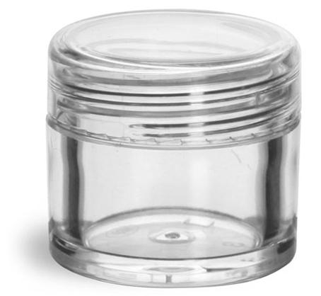 1/4 oz Clear Styrene w/ Dome Caps