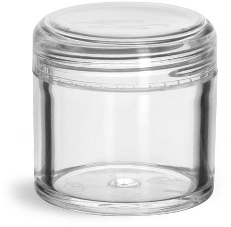 Clear Styrene Jars w/ Dome Caps