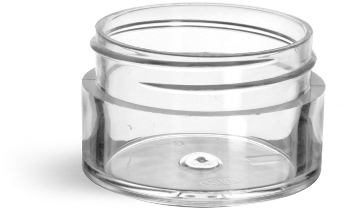 Clear Styrene Thick Wall Jars (Bulk), Caps Not Included