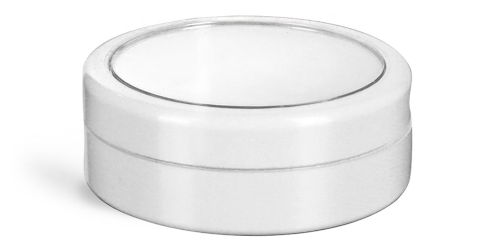 White Jar with White Cap and Clear Window