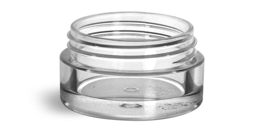 5 ml Plastic Jars, Clear PET Jars (Bulk) Caps NOT included
