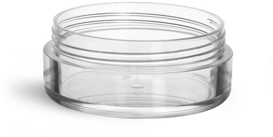 Clear Styrene  Jars