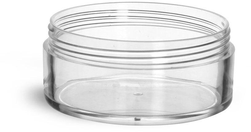 Clear Styrene  Jars (Bulk) Caps Not Included
