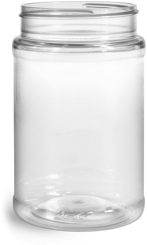 Clear PET Food Jars (Bulk), Caps NOT Included