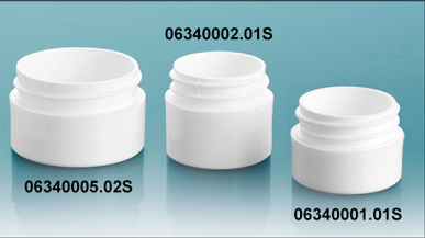 Plastic Jars, White Polypropylene Thick Wall Jars  (Bulk) Caps Not Included