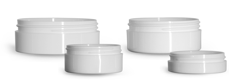 White Polypropylene Thick Wall Jars  (Bulk), Caps Not Included