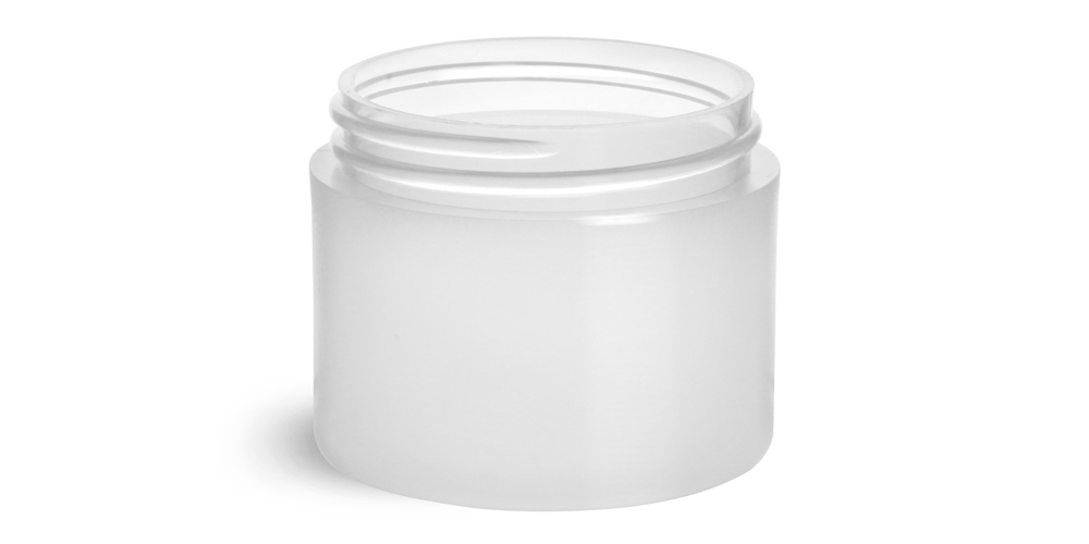 2 oz Frosted Polypro Thick Wall Jars (Bulk), Caps Not Included