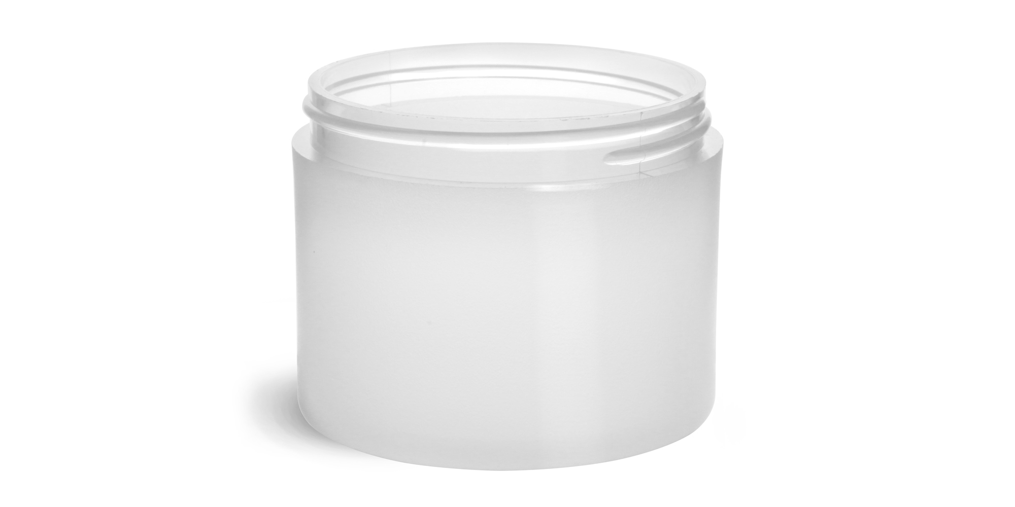 4 oz Frosted Polypro Thick Wall Jars (Bulk), Caps Not Included