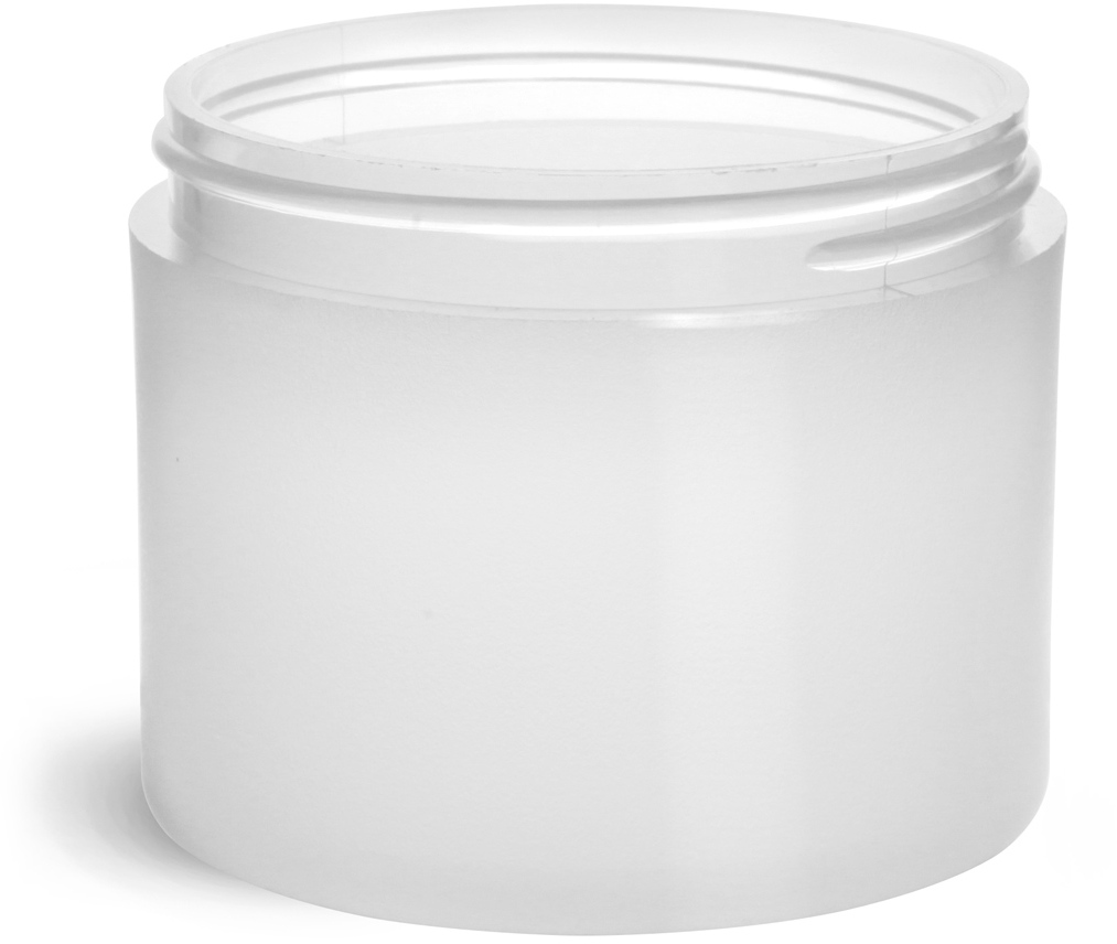 Frosted Polypro Thick Wall Jars (Bulk), Caps Not Included