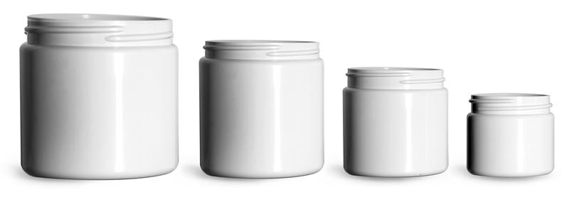 White PCR (PET) Straight Sided Jars (Bulk)