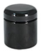 4 oz 4 oz Plastic Jars, Black PET (PCR) Straight Sided Jars w/ Black Lined Dome Caps