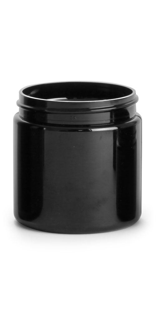 4 oz Black PET Straight Sided PCR Jars