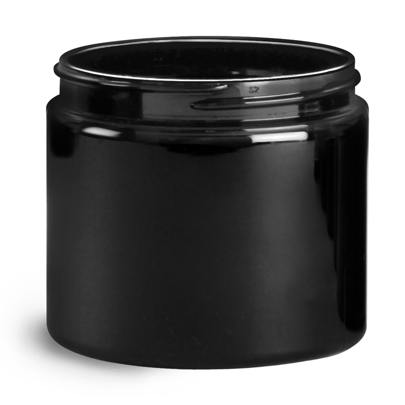 Product Replacement - Black PCR (PET) Straight Sided Jars