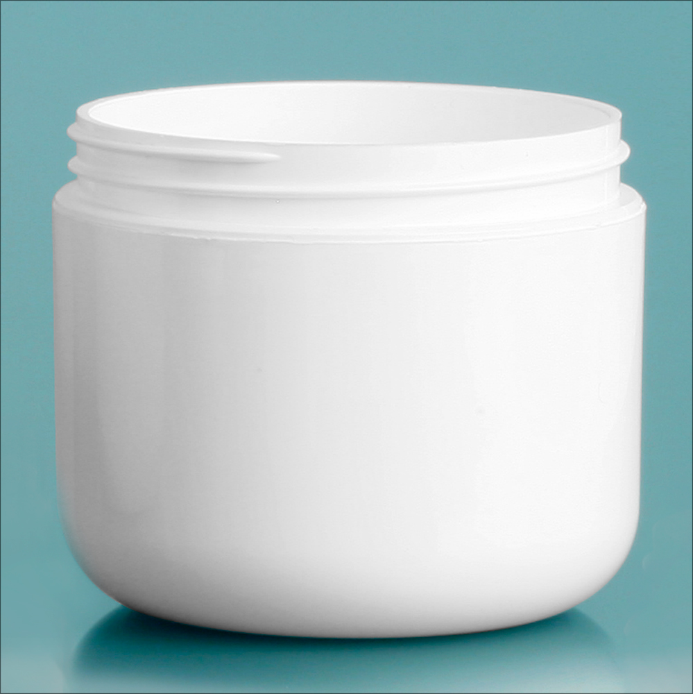 4 oz White Polypro Double Wall Radius Jars (Bulk), Caps Not Included