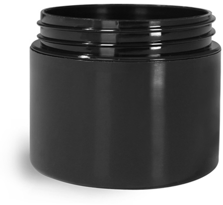 Black Polypro Double Wall Straight Sided Jars (Bulk), Caps Not Included