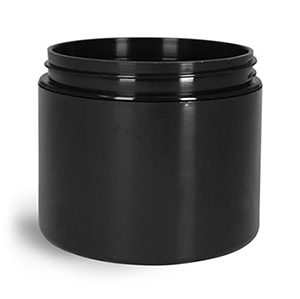 4 oz Black Polypro Double Wall Straight Sided Jars (Bulk), Caps Not Included