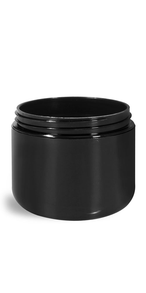 Plastic Jars, Black Polypropylene Double Wall Radius Jars (Bulk) Caps NOT Included