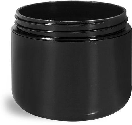 Plastic Jars, Black Polypropylene Double Wall Radius Jars (Bulk) Caps NOT Included
