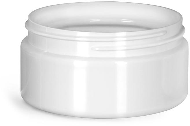Plastic Jars, White PET Heavy Wall Jars (Bulk), Caps NOT Included