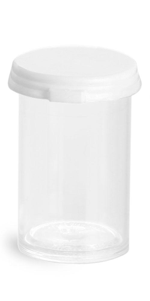 3 1/2  Dram Clear Styrene Vials w/ Snap Caps