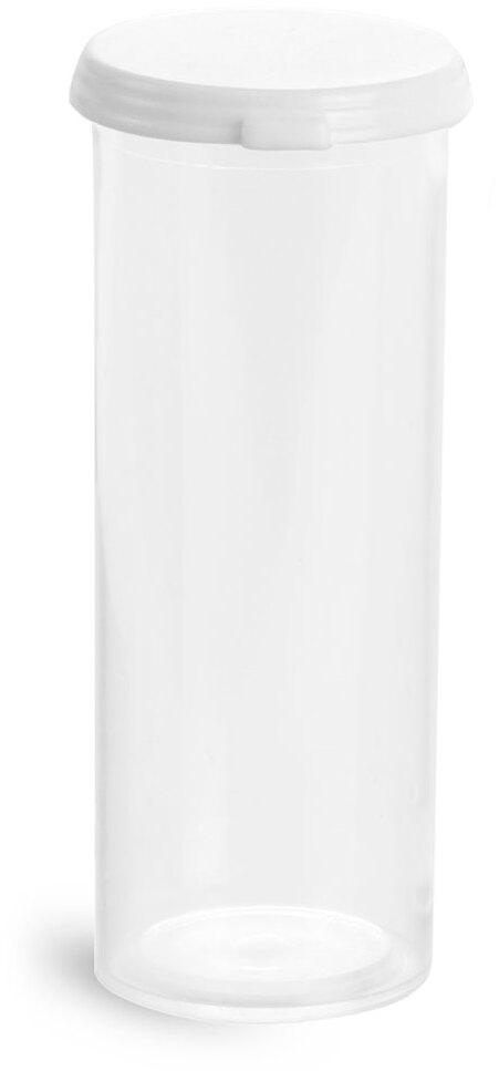 Clear Styrene Vials w/ Snap Caps