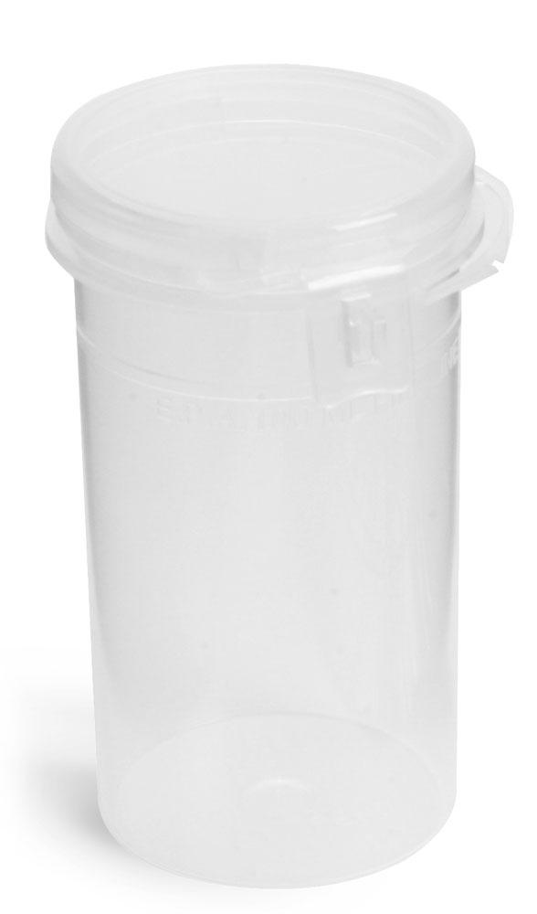 100 ml Natural Polypropylene Hinge Top Vials w/ Tamper Evident Seal
