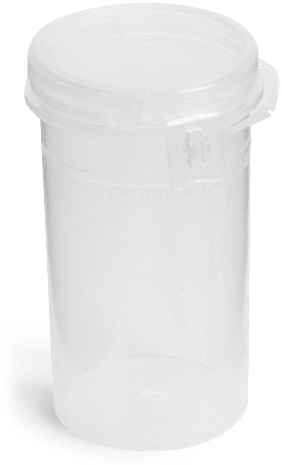 Natural Polypropylene Hinge Top Vials w/ Tamper Evident Seal