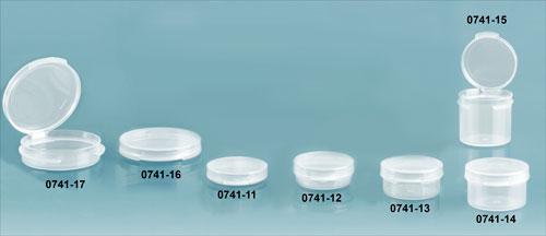 Plastic Vials, Natural Polypropylene Hinge Top Vials