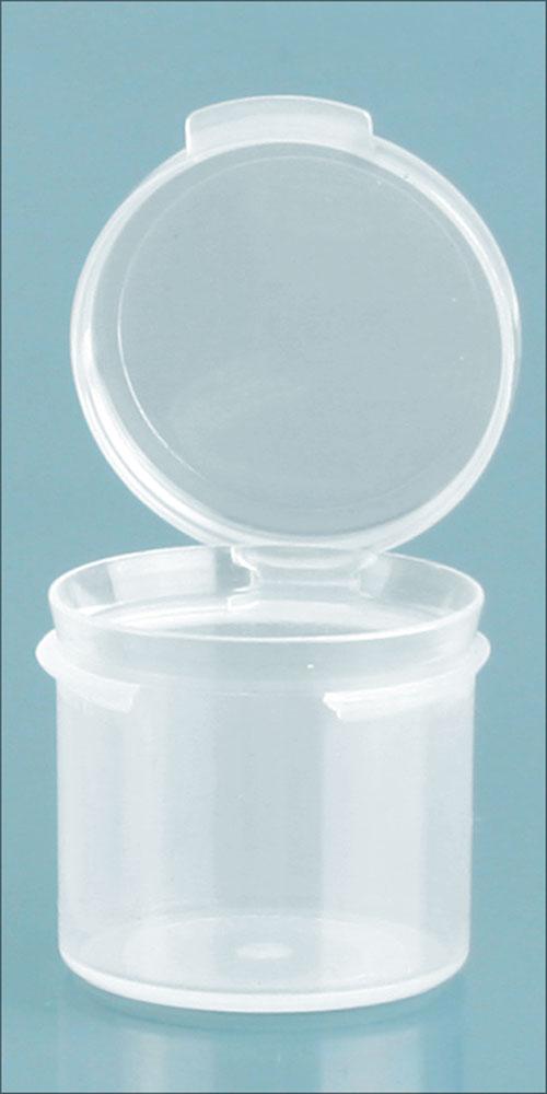 0.39 oz Natural Polypro Hinge Top Vials