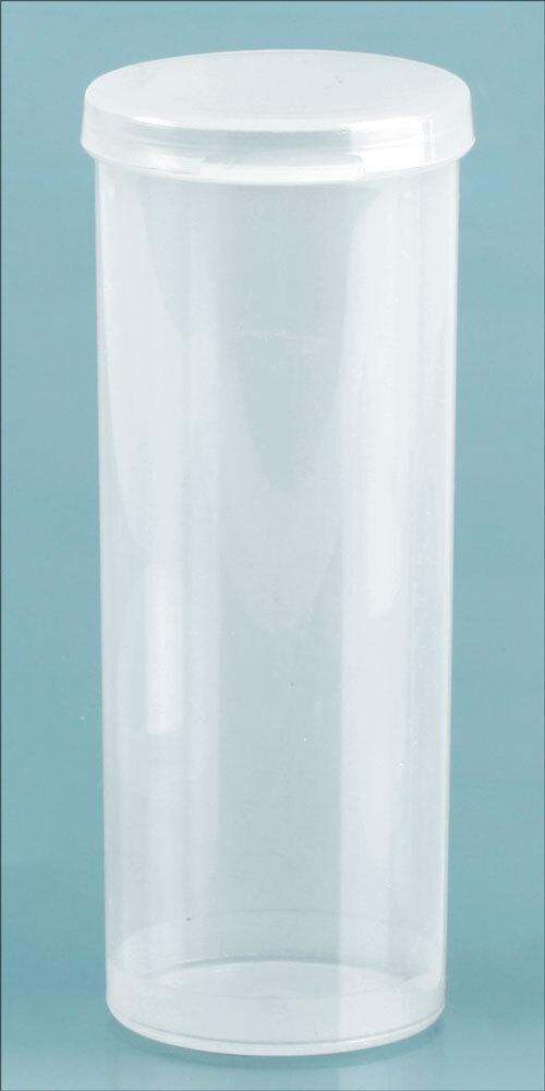 Natural Polypro Hinge Top Vials, 39 mm Dia