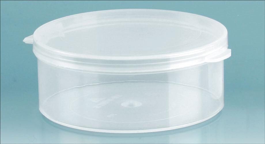 Natural Polypro Hinge Top Vials, 70 mm Dia