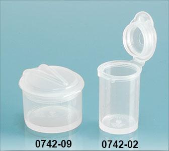 Plastic Vials, Natural Polypropylene Hinge Top Micro Vials