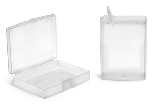 Hinge Top Containers, Natural Polypro Hinged Boxes