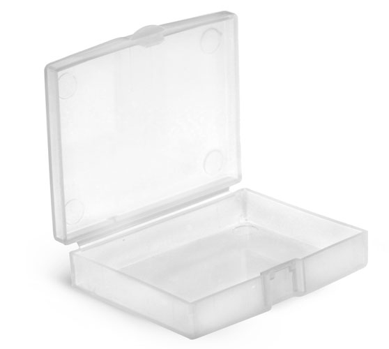 Natural Polypro Hinged Containers