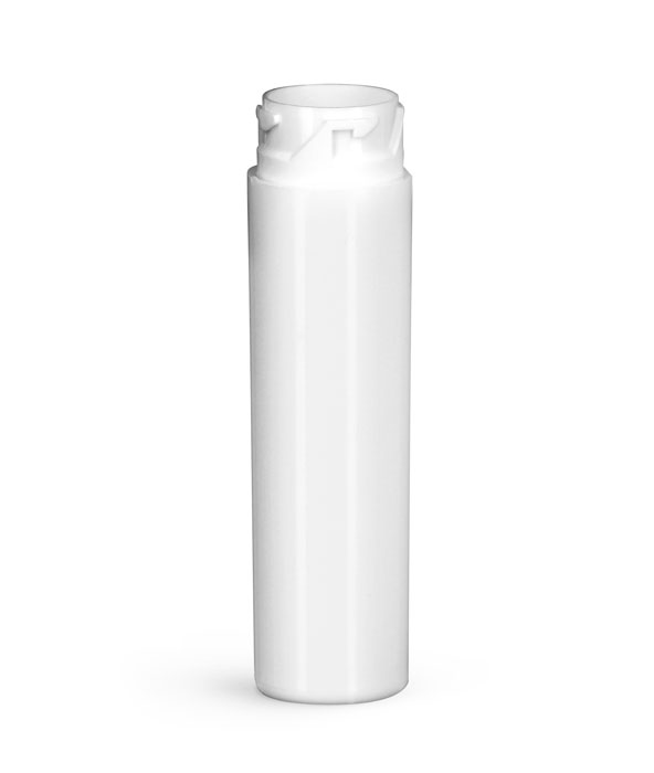 Plastic Vials, White HDPE Purse Pak Vials (Bulk), Caps NOT Included