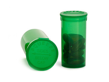 Green Polypro Squeeze Top® Vials