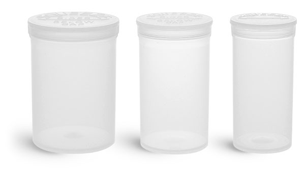 853bca50b2fe SKS Bottle & Packaging - Pill Pods, Clear Styrene Vials With Snap Caps
