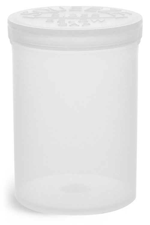 Hinge Top Containers, Natural Polypropylene Plastic Pop Top Vials
