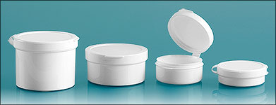 1 oz White Hinge Top Polycons, Pill Pods