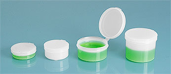 Hinge Top Containers, Natural Hinge Top Pill Pods