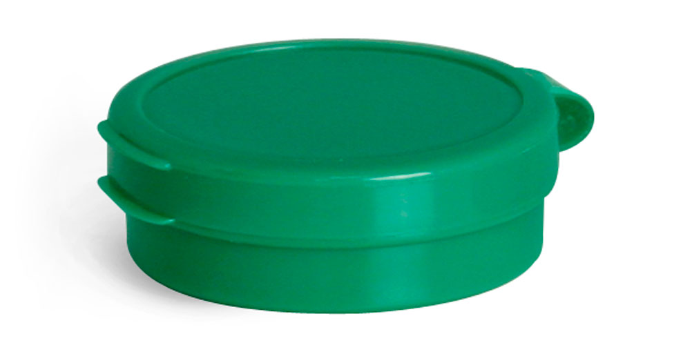 1/4 oz Green LDPE Hinge Top Polycons, Pill Pods