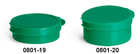 Hinge Top Containers, Green Hinge Top Pill Pods