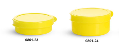 Hinge Top Containers, Yellow Pill Pods