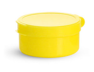 Hinge Top Containers, Yellow Hinge Top Pill Pods