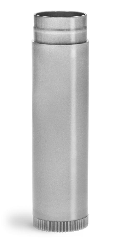 .15 oz Lip Balm Tubes, Silver Polypropylene Lip Balm Tubes (Bulk), Caps NOT Included