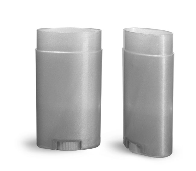 Plastic Tubes, Silver Polypro Oval Deodorant Tubes (Bulk), Caps NOT Included