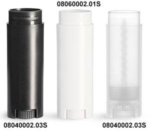 Lip Balm Tubes, Oval Polypro Lip Balm Tubes (Bulk), Caps Not Included